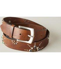 sundance catalog women's star signs belt in brown small