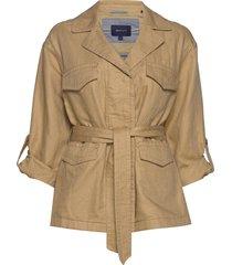 d2. belted field jacket sommarjacka tunn jacka brun gant