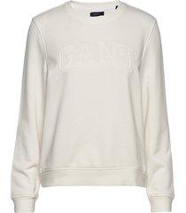 arch logo c-neck sweat sweat-shirt trui wit gant