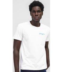 camiseta aleatory lettering branca