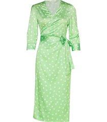 cowry dots dress knälång klänning grön aéryne