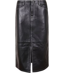 proenza schouler leather straight skirt