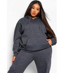 plus basic oversized hoodie, charcoal