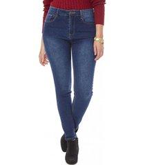 jeans skinny basico mujer azul oscuro corona