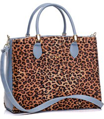 bolsa dhaffy bolsas onça grande azul