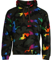 multicolored camouflage hoodie