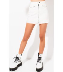 akira vacation mode zip front mini skirt