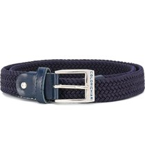 colorichiari woven logo belt - blue