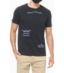 camiseta mc regular frase meia reat gc - azul marinho - pp
