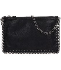 stella mccartney falabella purse black shaggy clutch