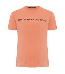 t-shirt feminina cidade maravilhosa bronze - laranja