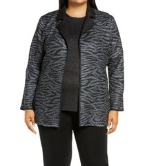 plus size women's ming wang reversible jacket