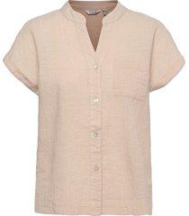 byhenri ss shirt - blouses short-sleeved beige b.young