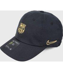 gorra negro-dorado nike fc barcelona cap