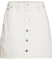 a-line short denim skirt sspwr kort kjol vit tommy jeans