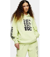 escapology lime green hoodie - lime