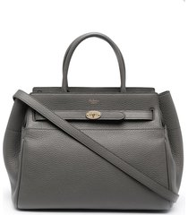 mulberry bayswater belted tote bag - grey