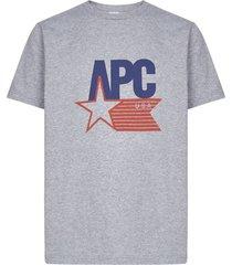 a.p.c. logo short sleeve t-shirt