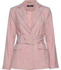 adele belted blazer blazer colbert roze gina tricot