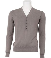guess vest men - brant sweater - sterling grey / grijs