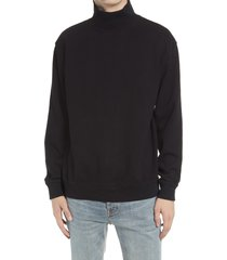 topman solid cotton turtleneck sweater, size x-small in black at nordstrom