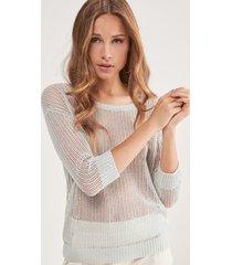 maglia rete lino cotone
