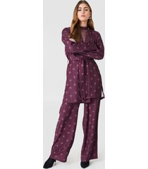 na-kd high waist wide pants - purple