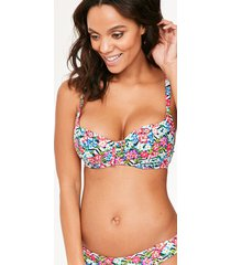 wonderland floral sweetheart padded bikini top