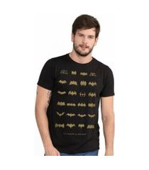 camiseta bandup! masculina batman 75 anos logos collection