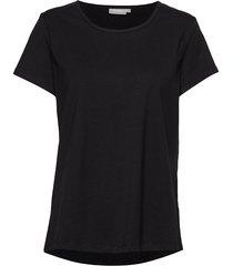 zaganic 2 t-shirt solid t-shirts & tops short-sleeved svart fransa