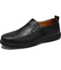 taglia unica uomo in pelle di mucca a mano soft suola scarpe casual