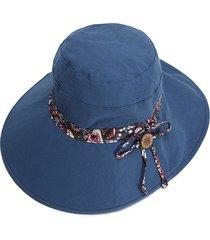 cappello estivo da donna a doppia faccia con protezione solare cappello a secchiello lungo anti-uv