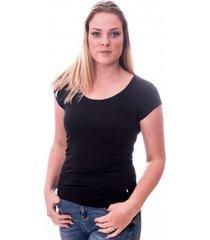 claesens women t-shirt round neck s/s black( cl 8015 )
