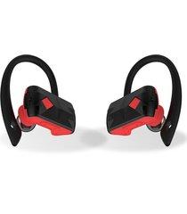 audífonos bluetooth inalámbricos, a18 true funcionamiento auricular audifonos bluetooth manos libres mini auricular estéreo manos libres (rojo)