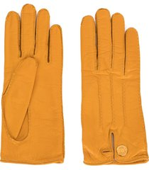 hermès pre-owned selye leather gloves - yellow