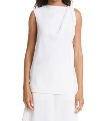 women's careste eva sleeveless silk top, size 20 - white