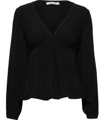 petunia blouse 10056 blouse lange mouwen zwart samsøe & samsøe