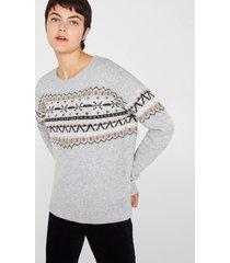 sweater con lana gris azulado esprit