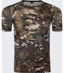 t-shirt maniche corte t-shirt manica corta 4199305 fit uomo t-shirt army sport tattico camo sottile