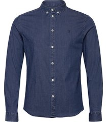 harper chambray shirt overhemd casual blauw les deux