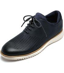 zapato casual de amarrar azul pierre cardin pc7239-c
