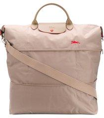 longchamp le pliage club travel tote bag - neutrals