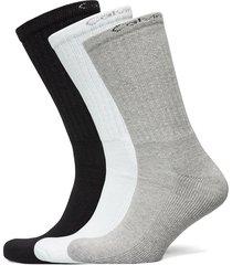 ck men crew 6p bonus antonio underwear socks regular socks grå calvin klein