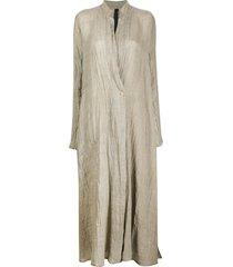 poème bohémien flowy long coat - grey