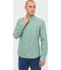 gant the oxford shirt slim bd skjortor kelly green