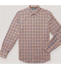 camisa casual cuadros caqui perry ellis