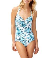 floral isles twist knot 1-piece swimsuit