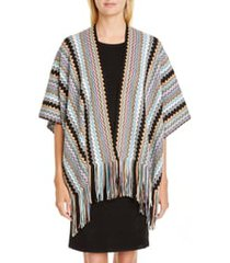 women's missoni zigzag fringe cape