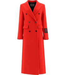 msgm maxi double-breasted coat