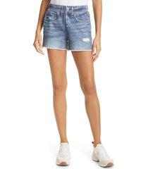women's rag & bone miramar faux jeans knit shorts, size x-small - blue